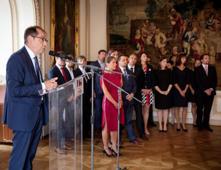 Graduation ceremony of the French-Czech double degree program MBA