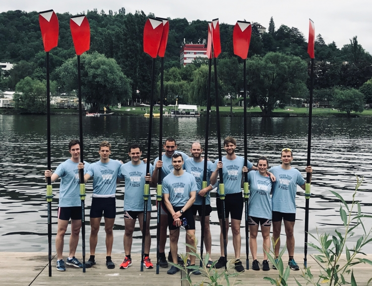 The VŠE crew finished sixth at the University Eights