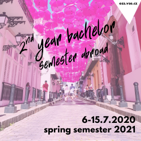 Exchange programme applications for 2nd year bachelor students – spring 2021 /6.-15. 7/