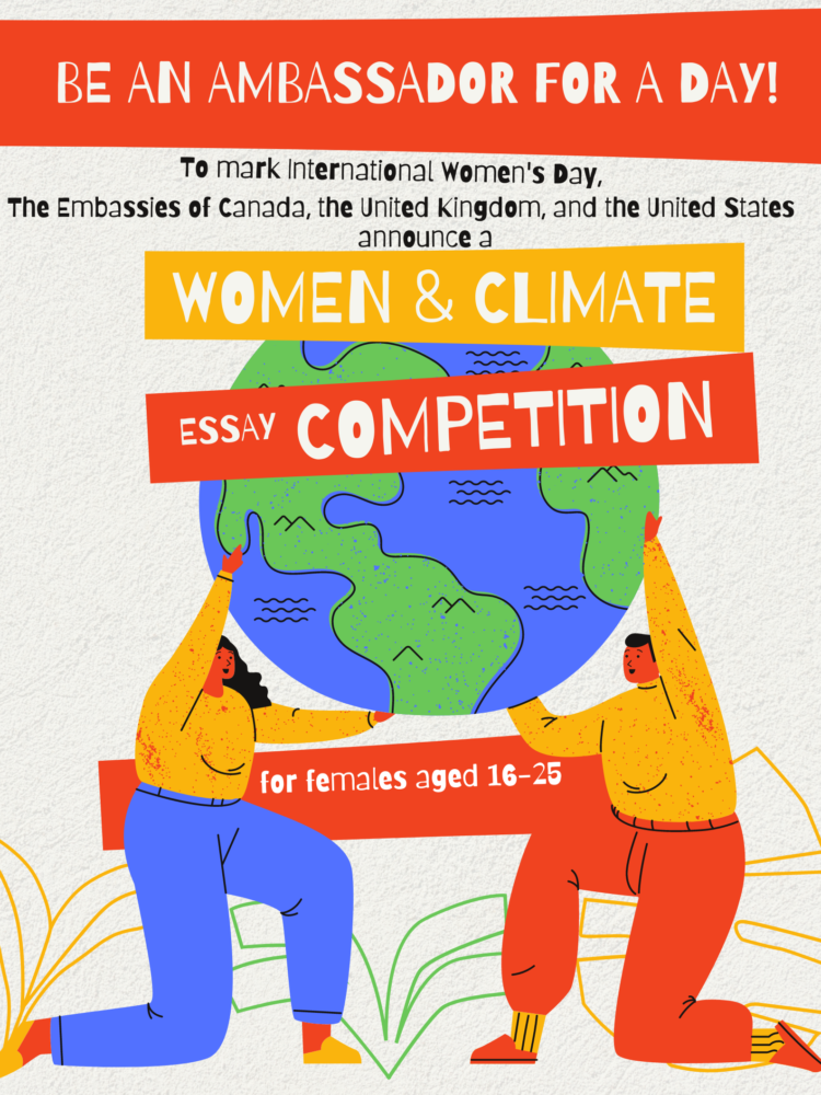 Young Female Ambassador for a Day competition on Climate Change