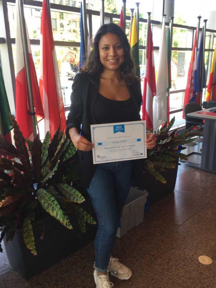 MOS student visited European Statistical Week in Eurostat