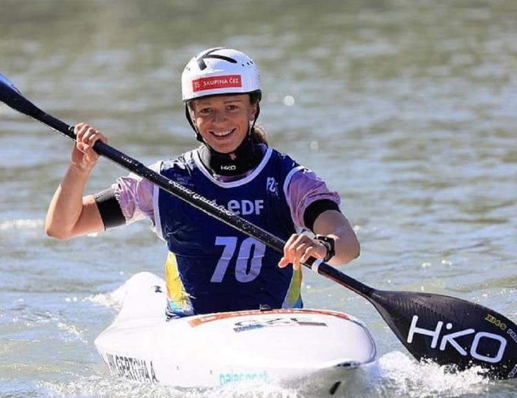 FIR student Amálie Hilgertová won European Championship in Water Slalom