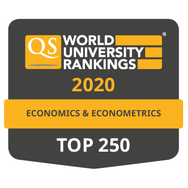 VŠE scores in QS World University Rankings by Subject 2020