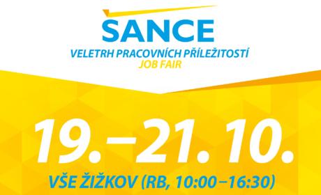 Navštivte veletrh pracovních příležitostí ŠANCE /19.-21. 10./
