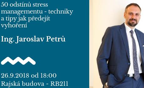 Absolventská středa: přednáška o stress managementu /26.9./