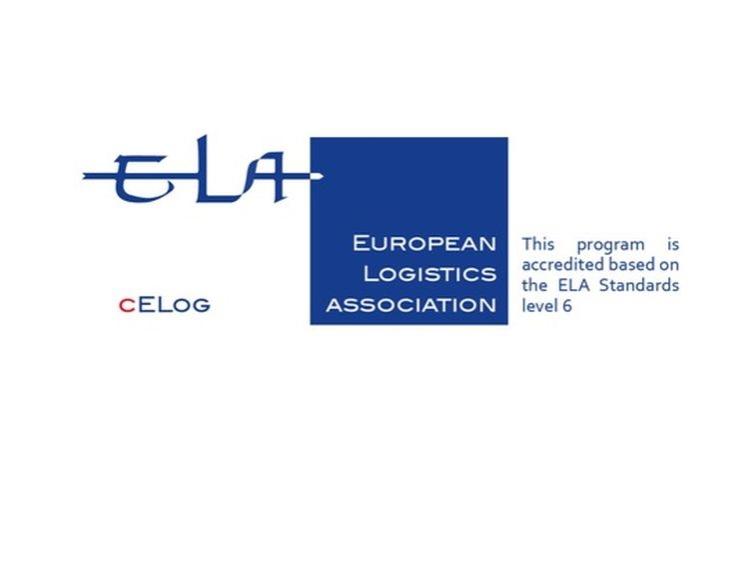 Katedra logistiky předává absolventům certifikáty cELog Evropské logistické asociace