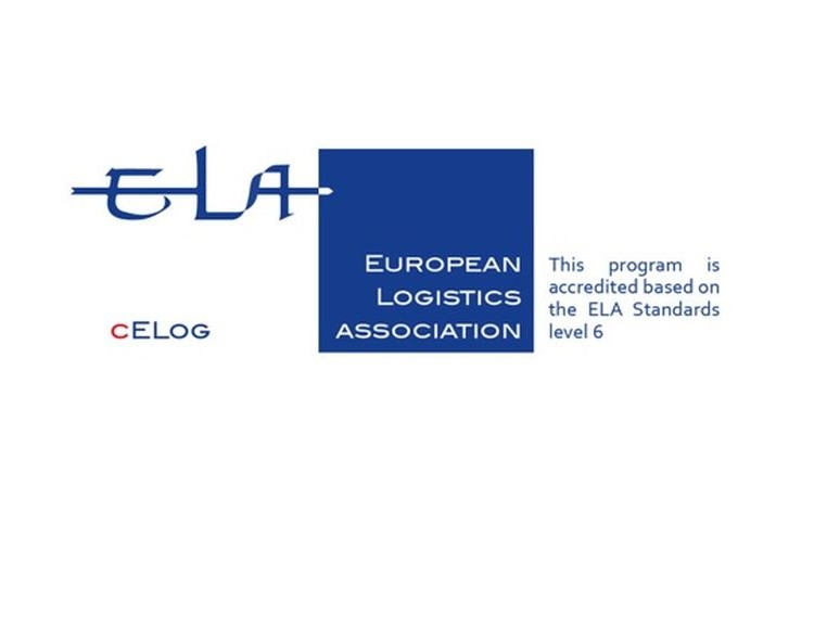 Katedra logistiky je i nadále držitelem mezinárodní odborné akreditace cELog Evropské logistické asociace