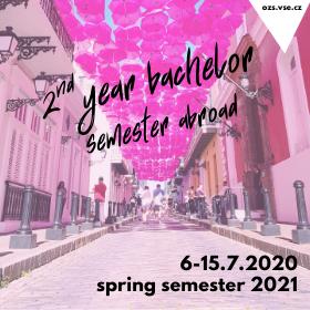 Studenti druhého ročníku se mohou registrovat na zahraniční pobyty v letním semestru 2021 /6.-15. 7./