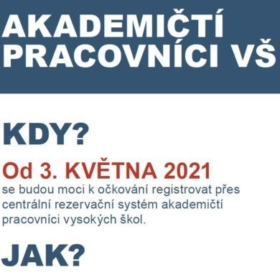 Akademičtí pracovníci VŠE se mohou registrovat pro očkování proti covid-19 od pondělí 3. 5. 2021