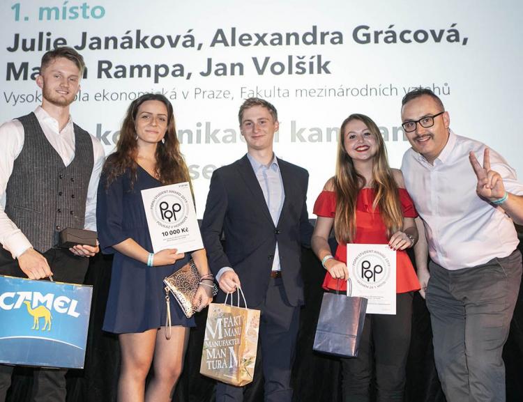 Studenti předmětu Retail Marketing opět zvítězili v soutěži POPAI STUDENT AWARDS 2019