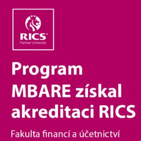 Program MBA – Nemovitosti a jejich oceňování získal jako první v regionu prestižní mezinárodní akreditaci RICS