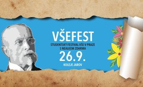 Studentský festival VŠEFEST oslaví začátek semestru i 100 let republiky /26.9./